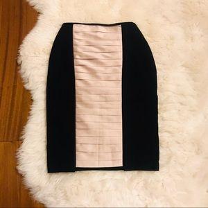 Dresses & Skirts - Black Pencil Skirt with Blush Satin Detail NEW